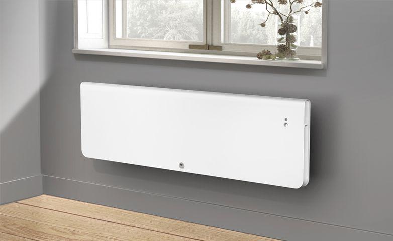 Équateur 4 horizontal blanc granit - Radiateur connecté - Thermor