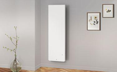 Équateur 4 vertical blanc granit - Radiateur connecté - Thermor