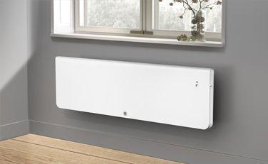 Équateur 4 horizontal blanc granit - Radiateur électrique à chaleur douce à inertie connecté - Thermor