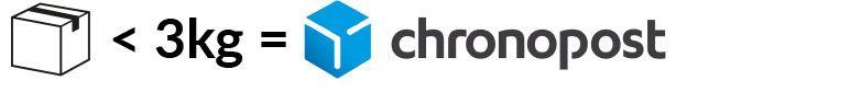 Colis inférieur à 3 kg = Chronopost - Thermor