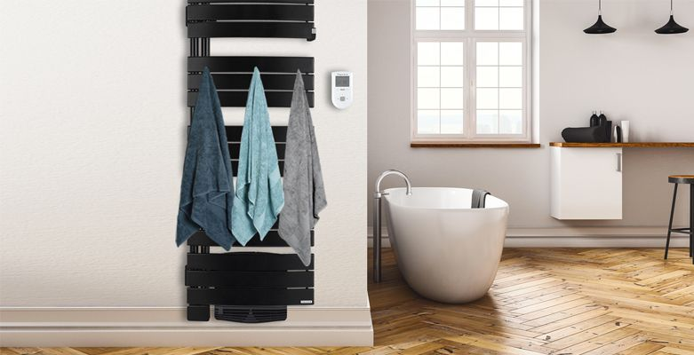 Riviera noir carbone - Sèche-serviette mixte - Thermor