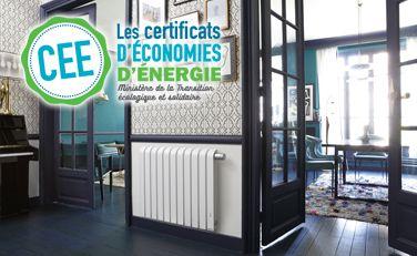 "Mythik horizontal blanc ""Coup de pouce chauffage EDF"" - Radiateur connecté - Thermor"