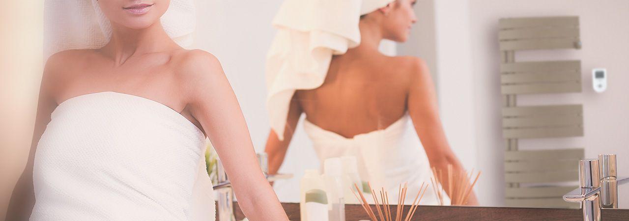 Sèche-serviettes électrique Symphonik aux enceintes intégrées : prenez votre douche en musique !